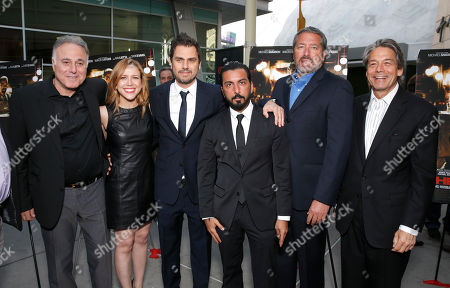 Producer Ehud Bleiberg, executive producer Laura Rister and director Ariel Vromen, Danny A. Abeckaser, President of Millennium Entertainment Steve Nickerson and Millennium Entertainment CEO Bill Lee attend the DeLeon Tequila special screening of The Iceman at the Arclight on in Los Angeles