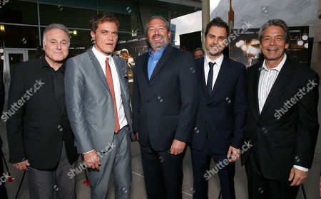 Producer Ehud Bleiberg, Michael Shannon, President of Millennium Entertainment Steve Nickerson and director Ariel Vromen and Millennium Entertainment CEO Bill Lee attend the DeLeon Tequila special screening of The Iceman at the Arclight on in Los Angeles