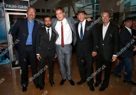 President of Millennium Entertainment Steve Nickerson, Danny A. Abeckaser, Michael Shannon, Robert Davi and Millennium Entertainment CEO Bill Lee attend the DeLeon Tequila special screening of The Iceman at the Arclight on in Los Angeles