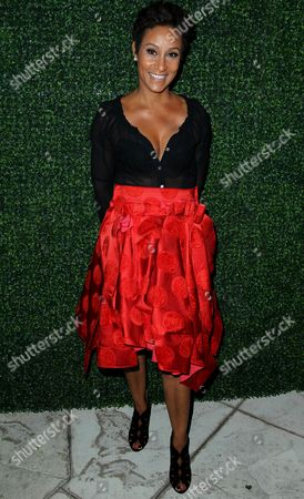 "Desiree Rogers attends the ""House of Flowers"" dinner honoring Diahann Carol and AMPAS President Cheryl Boone Isaacs at the home of Tracey Edmonds on in Beverly Hills, Calif"