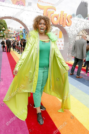 "GloZell Green seen at DreamWorks Animation and Twentieth Century Fox Present the Los Angeles Premiere of ""Trolls"" at Regency Village Theatre, in Los Angeles"