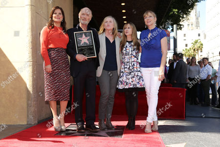 Marcia Gay Harden, Ed Harris, Amy Madigan, Holly Hunter and Glenne Headly seen at a ceremony honoring Ed Harris with a star on The Hollywood Walk of Fame, in Los Angeles