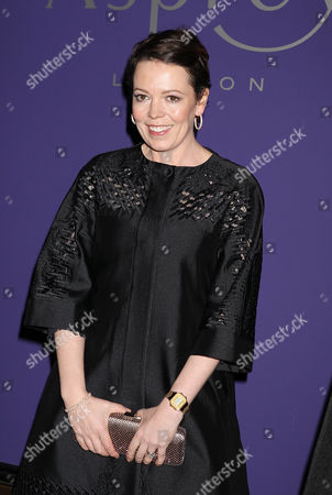 Olivia Colman attending the Asprey EE British Academy Film Awards Nominees Party at Asprey in New Bond St in London on Saturday February 15,2014. on Saturday February 15,2014
