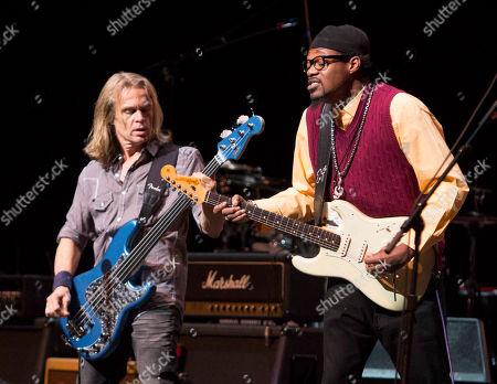 Tony Franklin and Eric Gales performs during the Experience Hendrix Concert Tour at the Cobb Energy Performing Arts Centre, in Atlanta