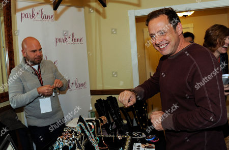 Actor Richmond Arquette visits Park Lane jewelry at the Fender Music lodge during the Sundance Film Festival, in Park City, Utah