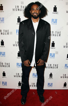 """Stock Picture of Ronny Turiaf arrives at the premiere of """"To The Wonder"""" hosted by FIJI Water on in Los Angeles"""