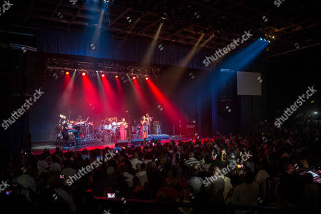 Marsha Ambrosius and Natalie Stewart with Floetry performs during the Floetry Reunion Tour at Center Stage, in Atlanta