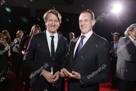Director Tom Hooper and Peter Schlessel, Chief Executive Officer, Focus Features, seen at Focus Features Los Angeles premiere of 'The Danish Girl' at Regency Village Theatre, in Los Angeles, CA