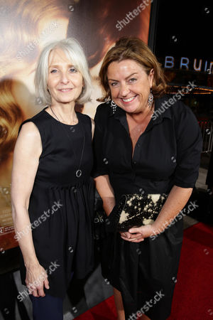 Makeup Artist Jan Sewell and Production Designer Eve Stewart seen at Focus Features Los Angeles premiere of 'The Danish Girl' at Regency Village Theatre, in Los Angeles, CA