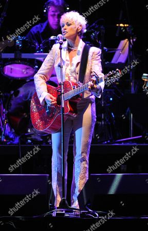 Lorrie Morgan performs at the George Jones Tribute - Playin' Possum: The Final No Show, on at the Bridgestone Arena in Nashville, Tenn