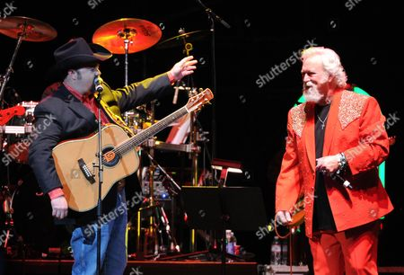 Stock Picture of Daryle Singletary and T. Graham Brown perform at the George Jones Tribute - Playin' Possum: The Final No Show, on at the Bridgestone Arena in Nashville, Tenn