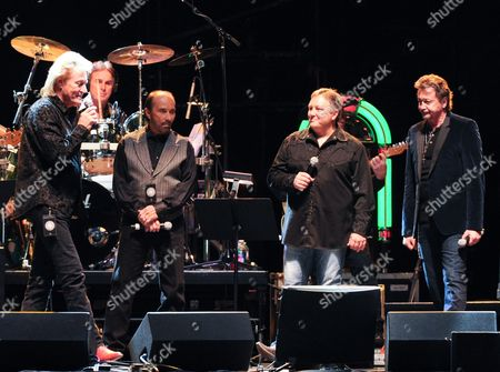 Eddy Raven, Lee Greenwood, Ken Mellons, and Mark Collie perform at the George Jones Tribute - Playin' Possum: The Final No Show, on at the Bridgestone Arena in Nashville, Tenn