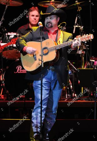 Stock Image of Daryle Singletary performs at the George Jones Tribute - Playin' Possum: The Final No Show, on at the Bridgestone Arena in Nashville, Tenn
