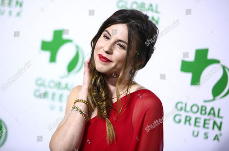 Kendra Krull arrives at the Global Green USA's 12th Annual Pre-Oscar Party at the Avalon Hollywood, in Los Angeles