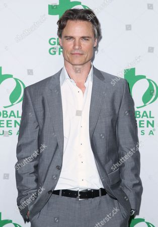 Dylan Neal arrives at the Global Green USA's 12th Annual Pre-Oscar Party at the Avalon Hollywood, in Los Angeles