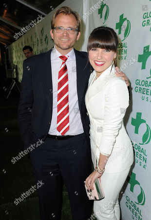 CEO of Global Green USA Matt Petersen and actress Sophia Bush arrive at Global Green USAâ?™s 10th Annual Pre-Oscar Party at the Avalon, on in Los Angeles