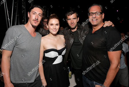 Eric Balfour, Emily Rose, Lucas Bryant and CEO Entertainment One Television John Morayniss attends the Entertainment One Haven Party at Comic Con on in San Diego