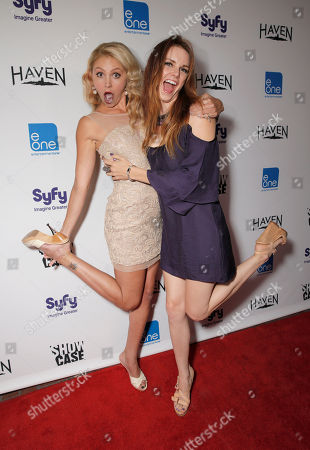 Madison Dylan and Catherine Annette attend the Entertainment One Haven Party at Comic Con on in San Diego