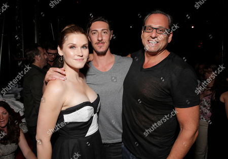 Emily Rose, Eric Balfour and CEO Entertainment One Television John Morayniss attends the Entertainment One Haven Party at Comic Con on in San Diego