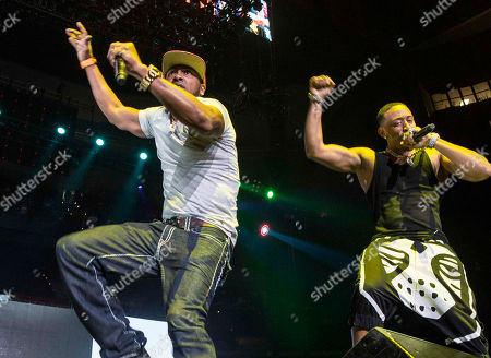 Ludacris and Mystikal perform during the Hot 107.9 Birthday Bash 20 at Philips Arena, in Atlanta