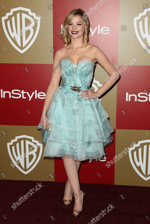 Dreama Walker arrives at the InStyle and Warner Bros. Golden Globe After Party at the Beverly Hilton Hotel, in Beverly Hills, Calif