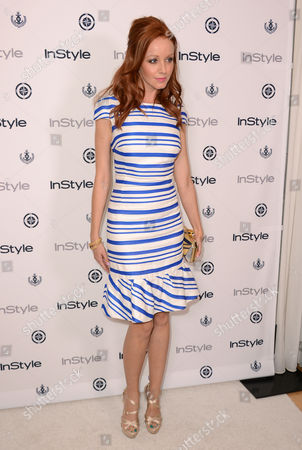 Lindy Booth arrives at the InStyle Summer Soiree at the Mondrian Hotel on in Los Angeles