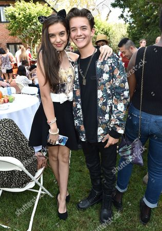 """Lily Mar and Noah Urrea attend Just Jared Jr.'s Fall Fun Day celebrating Season 2 of Amazon Prime's """"Gortimer Gibbon's Life on Normal Street"""", in Los Angeles"""