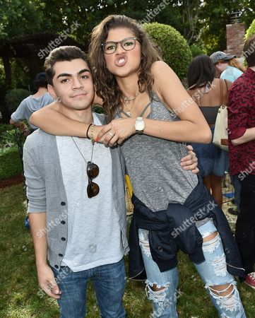 "Stock Image of Adam Irigoyen and Zendaya attend Just Jared Jr.'s Fall Fun Day celebrating Season 2 of Amazon Prime's ""Gortimer Gibbon's Life on Normal Street"", in Los Angeles"