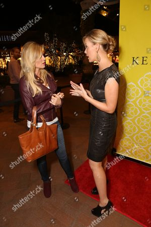 From left, Tamra Barney and Kendra Scott talk during the Luxe Party at the Kendra Scott Fashion Island Boutique, in Newport Beach, Calif