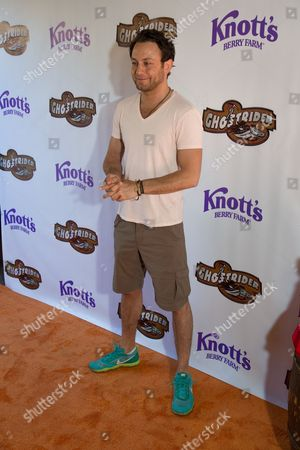 Jonathan Sadowski arrives at the event to celebrate the return of the Ghostrider at Knott's Berry Farm, in Buena Park, Calif
