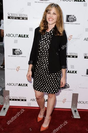 """Julie Mond arrives at the LA Premiere of """"About Alex"""" held at the ArcLight Hollywood, in Los Angeles"""
