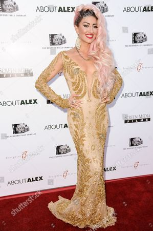 """Neon Hitch arrives at the LA Premiere of """"About Alex"""" held at the ArcLight Hollywood, in Los Angeles"""