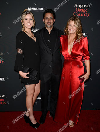 "From left to right, Maya Heslov, actor Grant Heslov and wife Lysa Heslov arrive at the premiere of the feature film ""August: Osage County"" Regal Cinema L.A. Live on in Los Angeles"