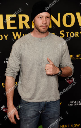 "Actor Ike Barinholtz poses at the premiere of the film ""Be Here Now (The Andy Whitfield Story),"" at the UTA Theater, in Beverly Hills, Calif"