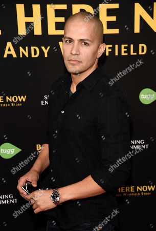 "Actor Jay Hernandez poses at the premiere of the film ""Be Here Now (The Andy Whitfield Story),"" at the UTA Theater, in Beverly Hills, Calif. Whitfield died of non-Hodgkin lymphoma in 2011"