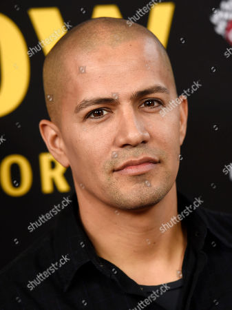"Actor Jay Hernandez poses at the premiere of the film ""Be Here Now (The Andy Whitfield Story),"" at the UTA Theater, in Beverly Hills, Calif"