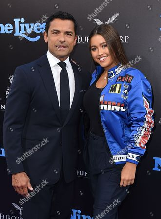 "Mark Consuelos and Lola Grace Consuelos arrive at the LA premiere of ""Nine Lives"" at TCL Chinese Theatre, in Los Angeles"