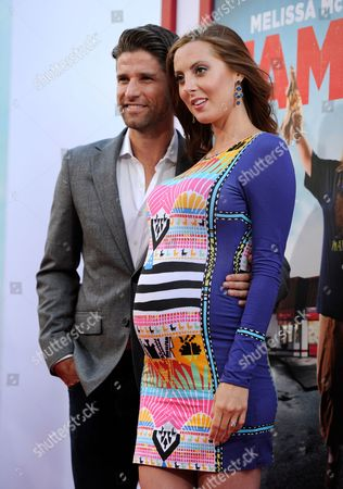 "Kyle Martino, left, and Eva Amurri Martino arrive at the Los Angeles premiere of ""Tammy"" at the TCL Chinese Theatre on"