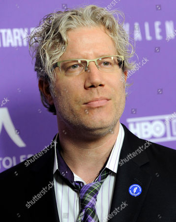 """Eddie Schmidt, producer of """"Valentine Road,"""" poses at the premiere of the film at the Museum of Tolerance on in Los Angeles"""