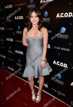 """DJ Samantha Duenas arrives on the red carpet at the premiere of the feature film """"A.C.O.D."""" at The Landmark Theatre on in Los Angeles"""