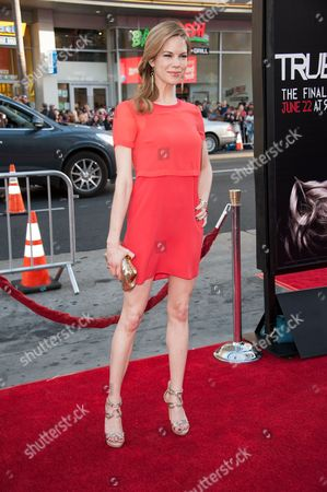 """Mariana Klaveno arrives at the Los Angeles premiere of the 7th and final season of """"True Blood"""" at the TCL Chinese Theatre on"""