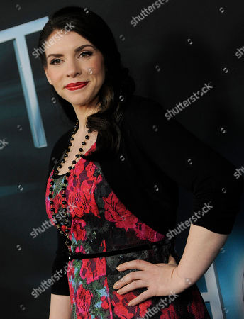 """Stock Photo of Stephanie Meyer, producer of the film """"The Host,"""" as well as author of the novel upon which it is based, poses at the Los Angeles premiere of film at the ArcLight Hollywood on in Los Angeles"""