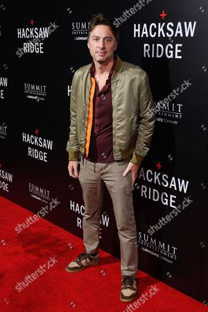 """Zack Braff arrives at the LA Special Screening of """"Hacksaw Ridge"""" at the Samuel Goldwyn Theater, in Beverly Hills, Calif"""