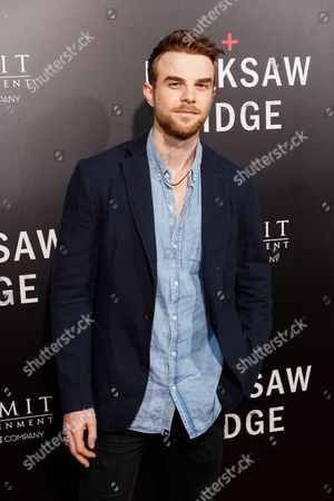 """Nathaniel Buzolic arrives at the LA Special Screening of """"Hacksaw Ridge"""" at the Samuel Goldwyn Theater, in Beverly Hills, Calif"""