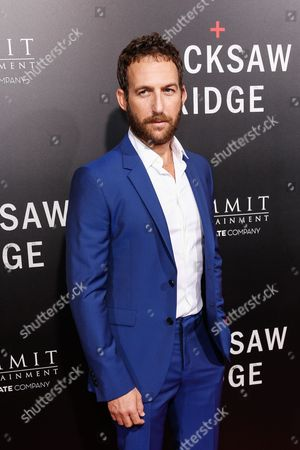 "Ori Pfeffer arrives at the LA Special Screening of ""Hacksaw Ridge"" at the Samuel Goldwyn Theater, in Beverly Hills, Calif"