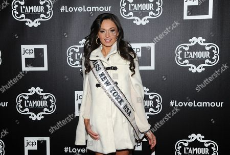 MIss New York Joanne Nosuchinsky attends the L'Amour Nanette Lepore for jcpenney launch party at the Hudson Hotel on in New York