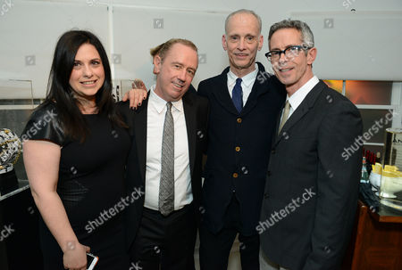 """Garance Franke-Dore, Mark Harrington, John Waters and Peter Staley attend LoveGold/EJAF Celebrate """"How to Survive a Plague"""" at Chateau Marmont on in Los Angeles"""