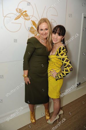 """Sally Morrison, left, and Madeline Fuhrman attend LoveGold/EJAF Celebrate """"How to Survive a Plague"""" at Chateau Marmont on in Los Angeles"""