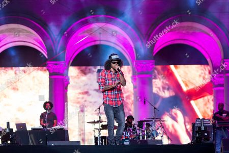 Ab-Soul performs on stage during the Made In America Festival at Grand Park, in Los Angeles, Calif