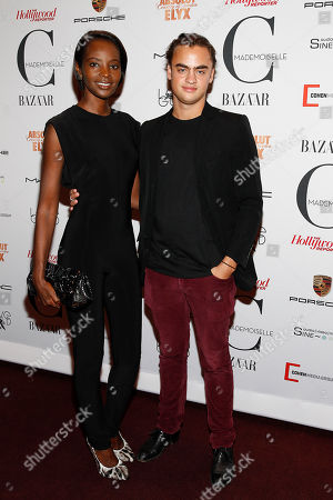 Kiara Kabukuru and Michael Avedon attend the premiere of Mademoiselle C at the Florence Gould Hall on in New York